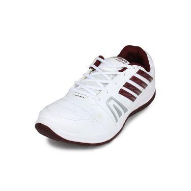 Columbus White & Red Sports Shoe C29