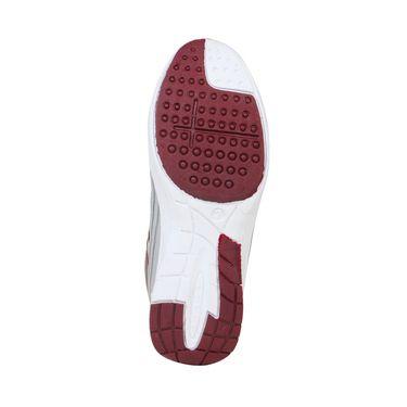 Columbus Mesh Sports Shoes Tab-1115 -Grey & Maroon