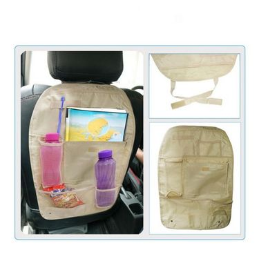 AutoStark Car Back Seats Multi-functional Pockets Storage Organiser-Beige