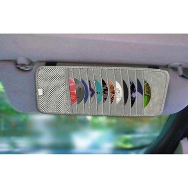 AutoStark Car CD Visor Holder DVD Storage Organiser Bag-Grey  Pack of 2