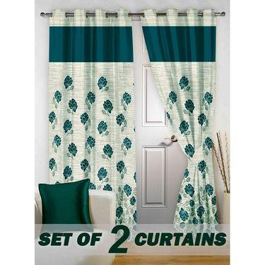 Set of 2 Printed Door curtain-7 feet-DBR_2_4016