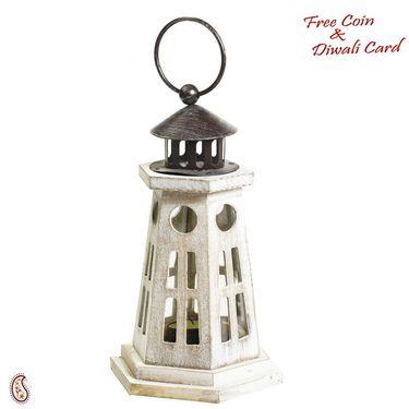 Light House Design Lantern Tealight Holder made in wood