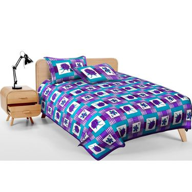 Set of 2 Jaipuri Print Double Bedsheets with 4 Pillow Covers-DEAL2009