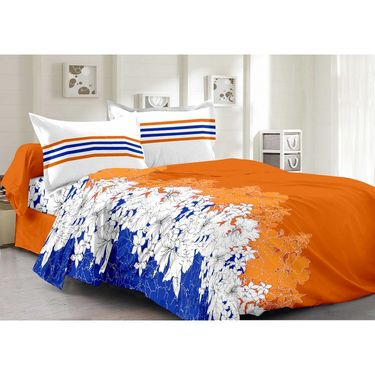 Valtellina 100% Cotton Double Bedsheet with 2 Pillow Cover-6011-A