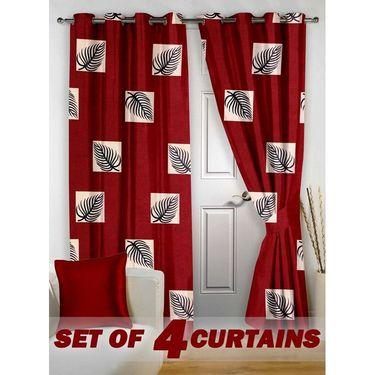 Set of 4 Printed Door curtain-7 feet-DNR_2_3009