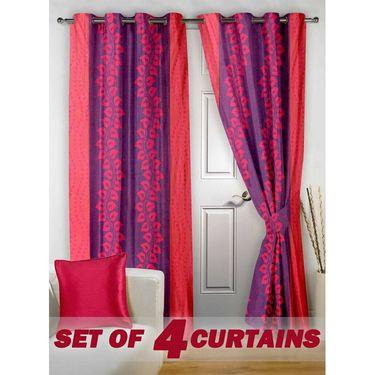 Set of 4 Printed Door curtain-7 feet-DNR_2_3021