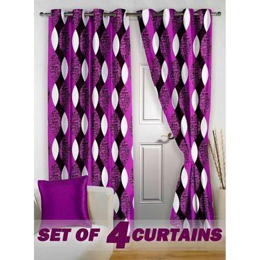 Set of 4 Printed Door curtain-7 feet-DNR_2_3057