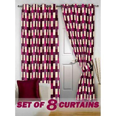Set of 8 Printed Door curtain-7 feet-DNR_4_3049