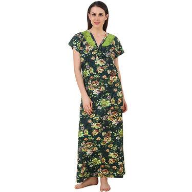 Fasense Shinker Cotton Floral Print Long Nighty -DP186B2
