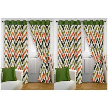 Storyathome Set of 4 Door curtain-7 feet-DTZ_2-1004