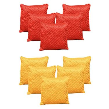 Dekor World Beyond Colours Cushion Cover Combo Set (Pack of 10 Pcs)-DWCB-166