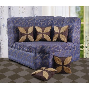 Dekor World Leaf Pattern Cushions Cover (Pack of 5)-DWCC-12-138-5