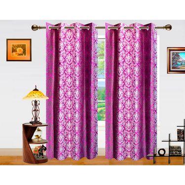 Dekor World Ombre Damask Window Curtain-Set of 2 -DWCT-763-5
