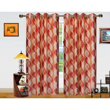 Dekor World Altra Lahar Window Curtain-Set of 2 -DWCT-768-5