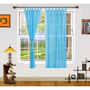 Dekor World Summer Fun Window Curtain- Set of 2 Pcs-DWCT-890-5