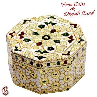 Beautiful Octagonal Floral print Multiutility Box
