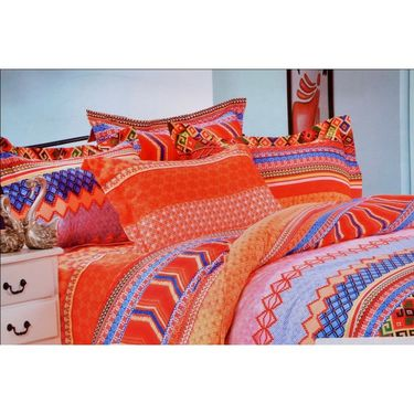 4D Printed  Double Bed Sheet With 2 Pillow Cover- DY-010