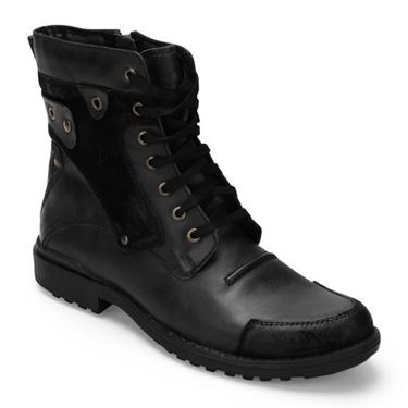 Delize Leather Boots - Black-3089