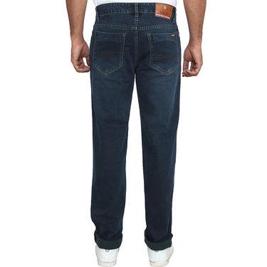Branded Plain Regular Fit Jeans For Men_Ddb - Dark Blue