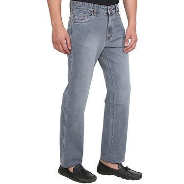 Branded Plain Regular Fit Jeans For Men_Dg - Grey
