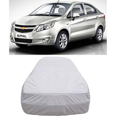 Digitru Car Body Cover for Chevrolet Sail - Silver