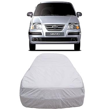 Digitru Car Body Cover for Hyundai Santro Xing - Silver