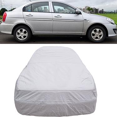 Digitru Car Body Cover for Hyundai Verna - Silver