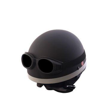Autofurnish (EL-1103) Elegant Helmet with Goggles (Matt Black)-EL-1103