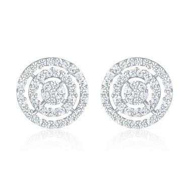 Mahi Rhodium Plated Artificial Earrings_Er1109105r