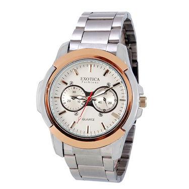 Exotica Fashions Dual-Tone Wrist Watch - White