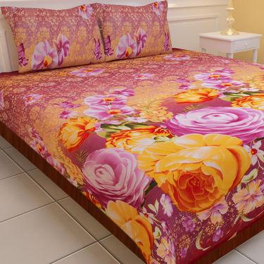 Luxury Queen 5 Extra Soft 3D Print Double Bedsheets (5BS1)