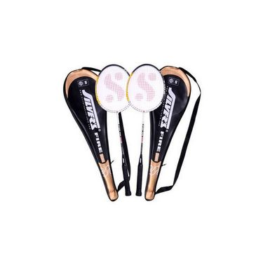 Silver's Pack of 2 Fire Badminton Racquets With Cover