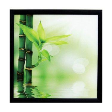 eCraftIndia 3D Beautiful Plant Design Satin Matt Texture Framed UV Art Print-FPSJ627