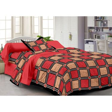 Storyathome 100% Cotton Single Bedsheet with 1 Pillow Cover-FY1108