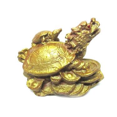 Fengshui Dragon Head Tortoise - Golden