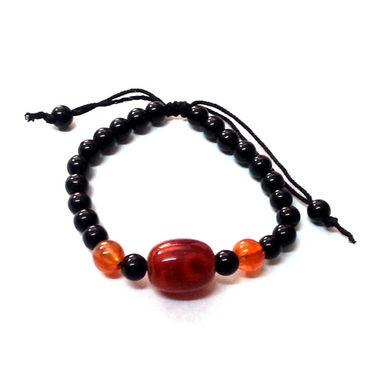 Fengshui Evil Eye Black Beads Bracelet - Black