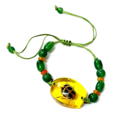 Fengshui Insect In Amber Bracelet -Lucky Charm