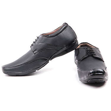 Foot n Style Italian Leather Formal Shoes  FS305 - Black