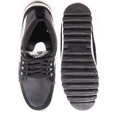 Foot n Style Faux leather Casual Shoes  FS308 - Black