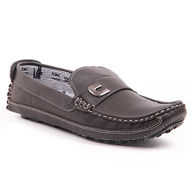 Foot n Style Italian Leather Loafers  FS312 - Drak Brown