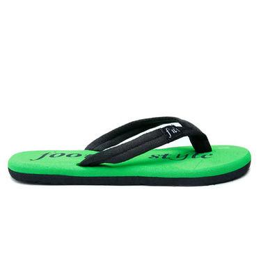 Foot n Style Slippers - Black & Green