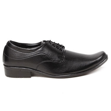 Foot n Style Textured Derby Shoes - Black