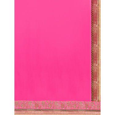 Indian Women Satin Chiffon Printed Saree -GA20109