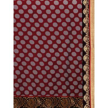 Indian Women Khushi Brasso Printed Saree -GA20110