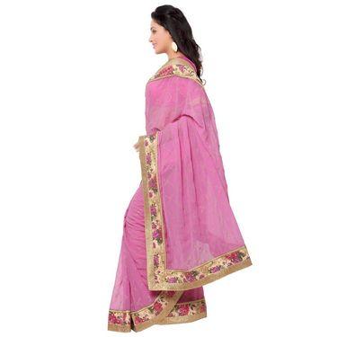 Indian Women Georgette Printed Saree -GA20112