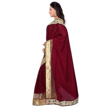 Indian Women Satin Silk Printed Saree -GA20119