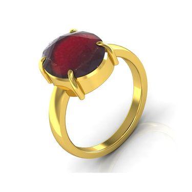 Kiara Jewellery Certified Hessonite 3.0 cts & 3.25 Ratti Garnet Ring_Gary