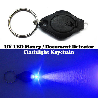 Gadget Hero's UltraViolet UV LED Fake Money / Currency Notes & Documents Detector Key Chain