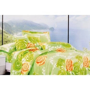 Set of 4 Beautiful Printed Multicolor Double Bed Sheet with 8 Pillow Covers-GO-011_13_17_19
