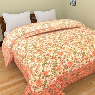 GRJ India Designer Printed Single AC Bed Quilt-GRJ-SQ-158